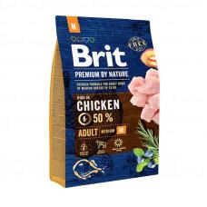Brit Premium Adult Mсухой корм для взрослых собак средних пород с курицей 3 кг