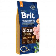Brit Premium Adult Mсухой корм для взрослых собак средних пород с курицей 15 кг