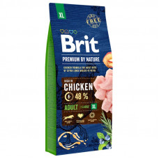 Brit Premium Adult XL сухой корм для взрослых собак гигантских пород с курицей 15 кг