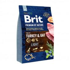 Brit Premium Light сухой корм для собак склонных к полноте с курицей 3 кг