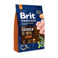 Brit Premium Sport сухой корм для активных собак с повышенной физической нагрузкойс курицей 1 кг