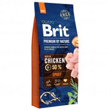 Brit Premium Sport сухой корм для активных собак с повышенной физической нагрузкойс курицей 15 кг
