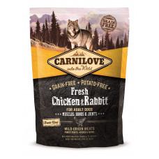 Carnilove Fresh Chicken & Rabbit сухой корм для взрослых собак с курицей и кроликом 1,5 кг