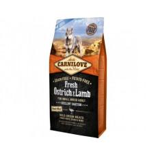 Carnilove Adult Dog Small Breeds Fresh Ostrich & Lamb сухой корм для взрослых собак малых пород, 1.5 кг