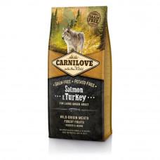 Carnilove Adult Large Breed Salmon & Turkey сухой корм с мясом индейки и лосося для собак крупных пород, 12кг