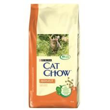 Cat Chow сухой корм с курицей и индейкой 15кг