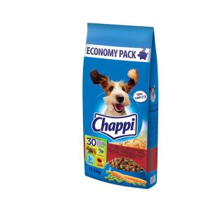 Chappi (Чаппи) сухой корм для собак с говядиной, птицей и овощами 13,5 кг.