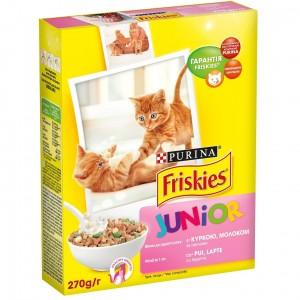Friskies Junior (Фрискис Джуниор) с курицей, молоком, овощами 0,270 кг