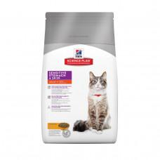 Hill's SP Adult Sensitive Stomach & Skin для кошек с чувствительным пищеварением и кожей 1,5 кг