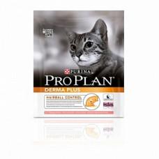 Pro Plan Derma Plus сухой корм для котов с чувствительной кожей с лососем 400г