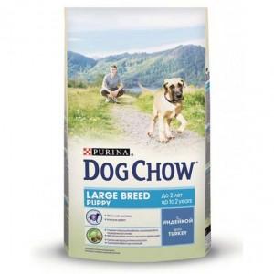 Dog Сhow Puppy Large Breed корм для щенков больших пород с индейкой 14кг