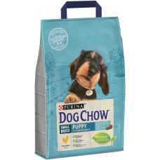 Dog Chow Puppy сухой корм для щенков мелких пород с курицей 2,5 кг