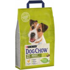 Dog Chow сухой корм для взрослых собак мелких пород с курицей 2,5 кг