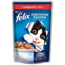 Felix (Феликс) консервы для котов с говядиной 100г