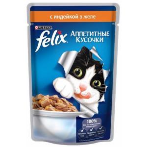 Felix (Феликс) консервы для котов с индейкой 100г