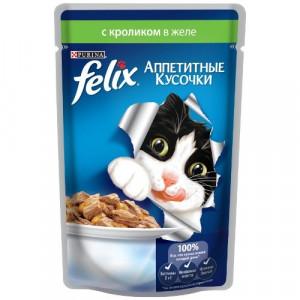 Felix (Феликс) консервы для котов с кроликом 100г