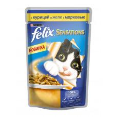 Felix (Феликс) консервы для котов с курицей и морковью 100г