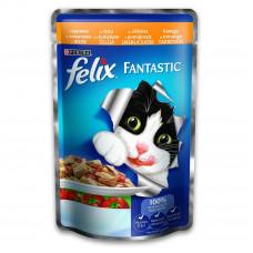 Felix (Феликс) консервы для котов с курицей и томатами 100г