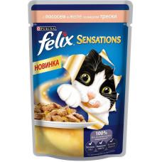 Felix (Феликс) консервы для котов с лососем и треской 100г