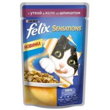 Felix (Феликс) консервы для котов с уткой и шпинатом 100г