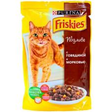 Friskies (Фрискис) консервы для котов с говядиной и морковью 100г