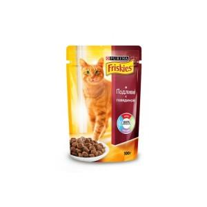 Friskies (Фрискис) консервы для котов с говядиной 100г