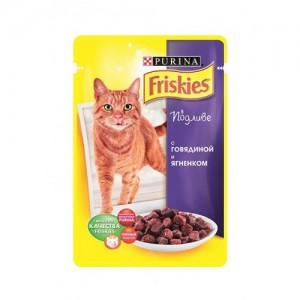 Friskies (Фрискис) консервы для котов с говядиной и ягненком 100г