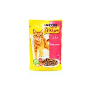 Friskies (Фрискис) консервы для котов с говядиной в желе 100г