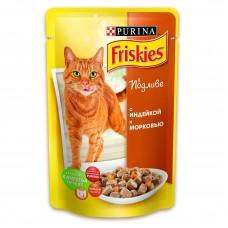 Friskies (Фрискис) консервы для котов с индейкой и морковью 100г