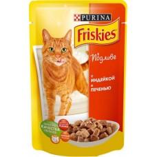 Friskies (Фрискис) консервы для котов с индейкой и печенью 100г