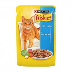 Friskies (Фрискис) консервы для котов с лососем 100г