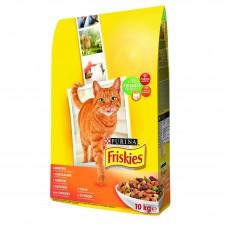 Friskies (Фрискис) сухой корм для котов с курицей и овощами 10кг