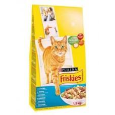 Friskies (Фрискис) сухой корм для котов с лососем и овощами 1,5кг