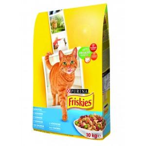 Friskies (Фрискис) сухой корм для котов с лососем и овощами 10 кг