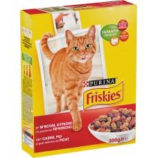 Friskies (Фрискис) сухой корм для котов с мясом, курицей и печенью 300г