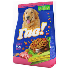 Гав сухой корм для собак мясное ассорти 0,5 кг
