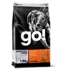 GO! сухой корм для щенков и взрослых собак со свежим лососем и овсянкой 100г