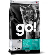 GO! сухой беззерновой корм для щенков и взрослых собак 4 вида мяса 2,72 кг
