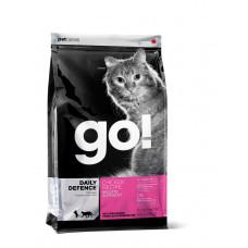 GO! сухой корм для котят и взрослых кошек со свежей курицей, фруктами и овощами 3,63 кг