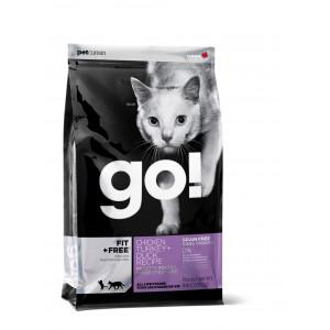 GO! сухой беззерновой корм для котят и взрослых кошек 4 вида мяса 3,63 кг