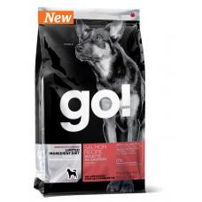 GO! сухой беззерновой корм для щенков и взрослых собак с чувствительным пищеварением лосось 11,34 кг