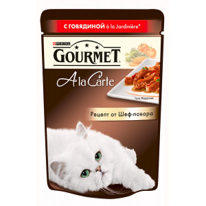Gourmet A la Carte консервы для котов с говядиной 85г