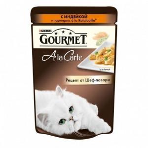 Gourmet A la Carte консервы для котов с индейкой и гарниром 85г