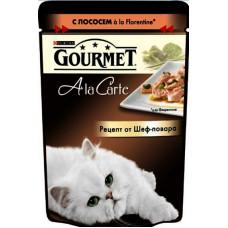 Gourmet A la Carte консервы для котов с лососем 85г
