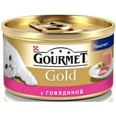 Gourmet Gold (Гурме Голд) консервы для котов с говядиной 85г