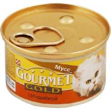 Gourmet Gold (Гурме Голд) консервы для котов с индейкой 85г