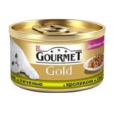 Gourmet Gold (Гурме Голд) консервы для котов с кроликом и печенью кусочки в подливе 85г