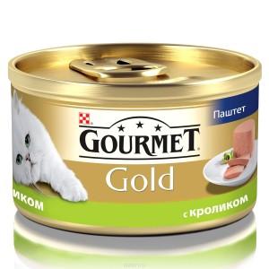 Gourmet Gold (Гурме Голд) консервы для котов с кроликом кусочки в паштете 85г