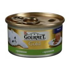Gourmet Gold (Гурме Голд) консервы для котов с кроликом паштете 85г