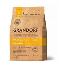 Grandorf Living Probiotics 4 Meat & Brown Rice Mini сухой корм для собак малых пород 4 вида мяса и рис 3 кг